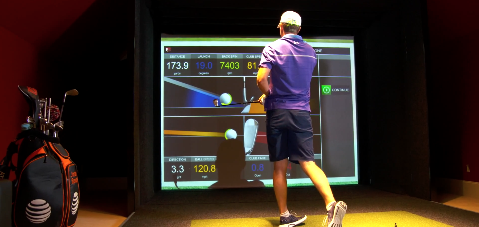 jordan spieth golf simulator